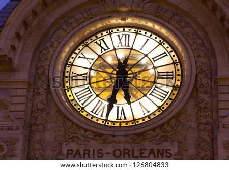 Clock in the museum of Orsay, Paris, Ile de France, France
