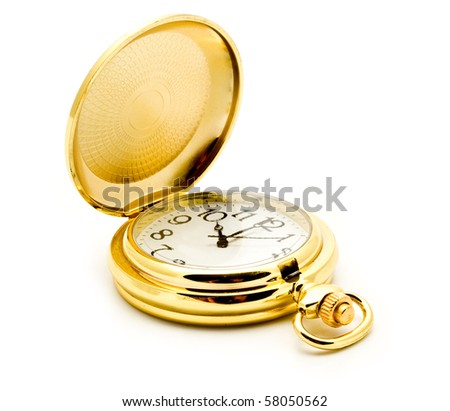 clock is isolated white