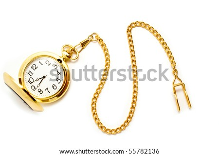 clock is isolated white for your illyustracciy