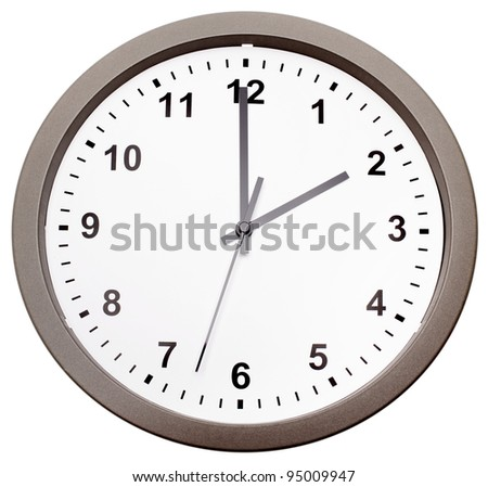 Clock isolated over white background