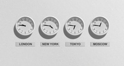 clock of different time zones