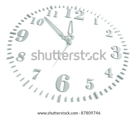 clock, on a white background, 3d render