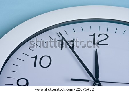 clock on blue background