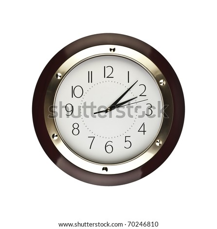 clock on wall - stock photo