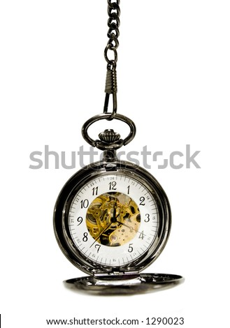 clock over a white background - stock photo