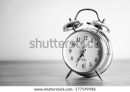 Clock process old vintage black and white style pictures