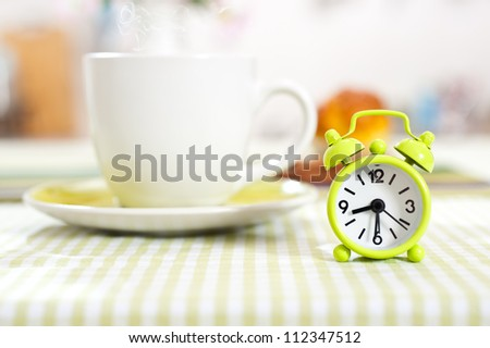Clock set up on half past eight