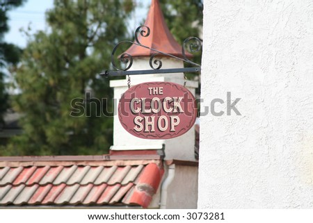 Clock Shop Sign