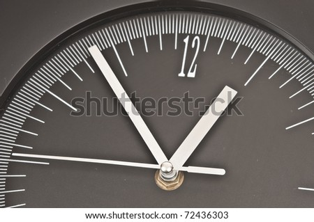 Clock showing almost 1 a clock