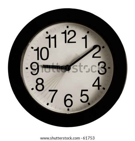 clock showing second hand movement stock photo 61753 shutterstock. Black Bedroom Furniture Sets. Home Design Ideas
