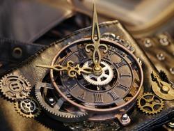 clock steampunk style