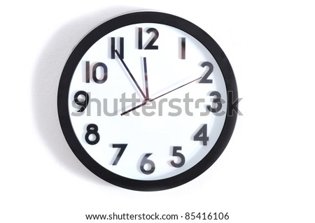 Clock, time on wall