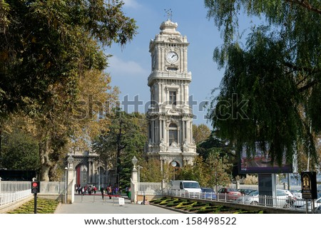Clock Tower from Dolmabahce Palace, Istanbul / TURKEY