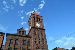 Clock tower in Jim Thorpe, PA