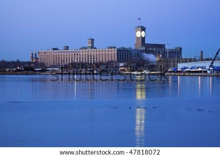 Clock Tower in Milwaukee, Wisconsin.