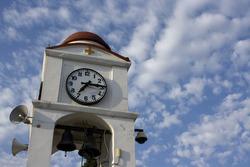 Clock tower in Skiathos Town, Greece