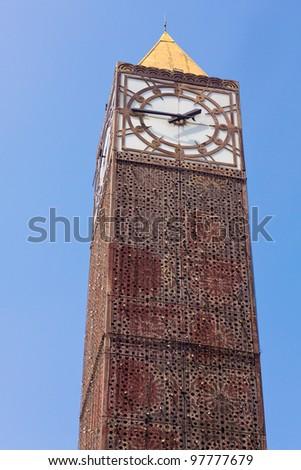 Clock tower in Tunis, Tunisia