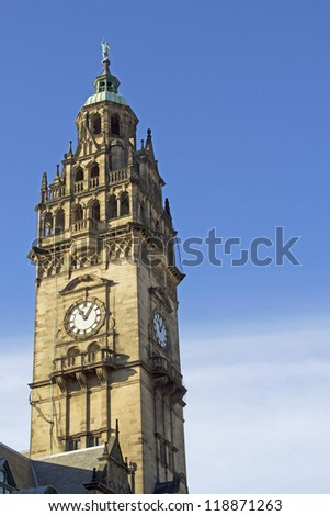 Clock Tower, Sheffield Town Hall, South Yorkshire, UK