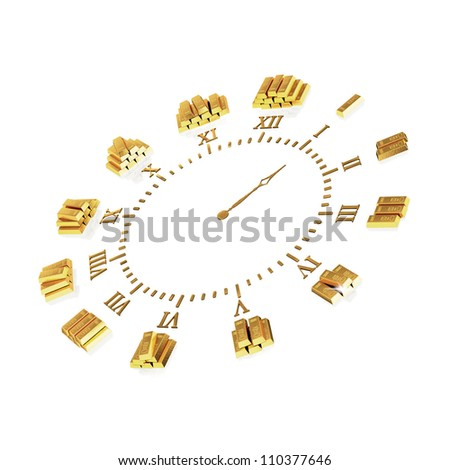 clock with gold ingots