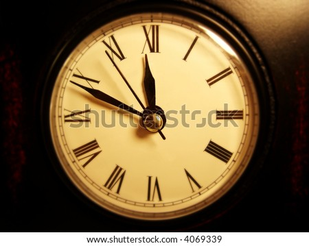 clock with roman numerals