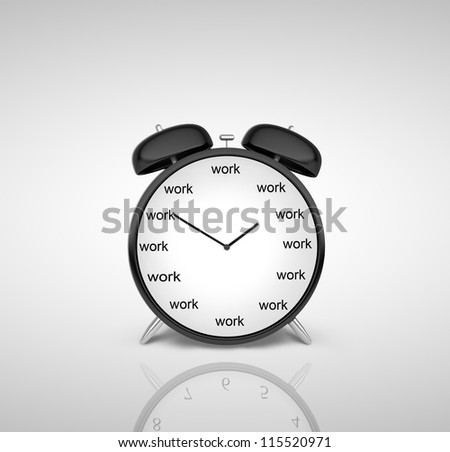 clock with schedule of day on a gray background
