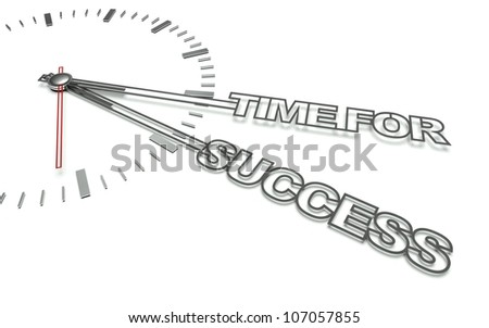 Clock with the words Time for success, concept of business