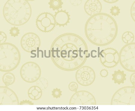 light yellow background. stock photo : Clocks ackground in light yellow-green shades