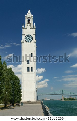 Clocktower in Montreal's old port
