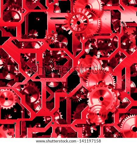 clockwork mechanism - abstract teamwork illustration