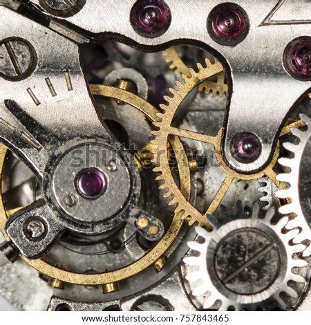clockwork old mechanical watch, high resolution and detail  #757843465
