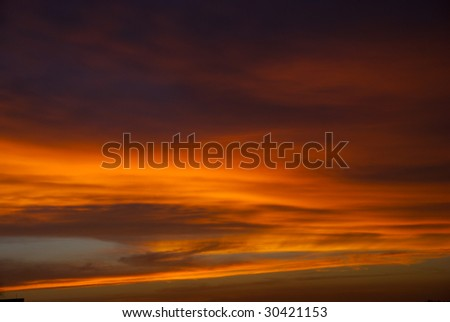 Clody sky during sunset, ideal to be used as background.