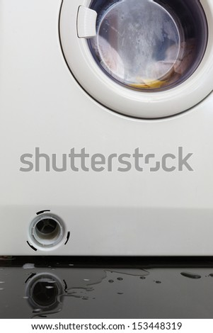 Clogged washing machine