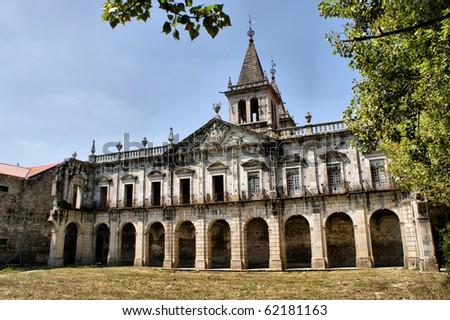 Cloister of Pombeiro monastery in Felgueiras, Portugal