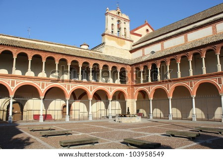 Cloister of San Pedro el Real in Cordoba - Spain