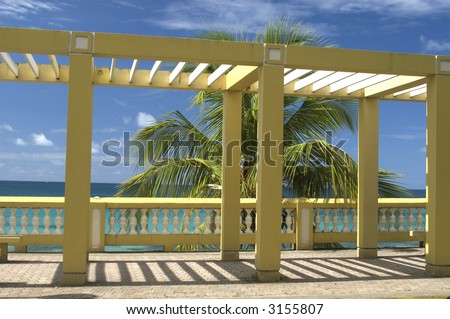 cloister structure on the malecon vieques, puerto rico
