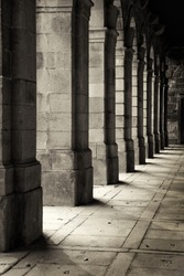 Cloisters of an ancient monastery