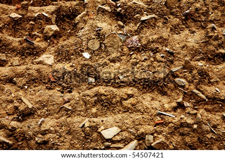 clos-up of  Soil texture background. - stock photo