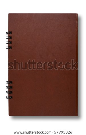 Close Brown notebook for text and background