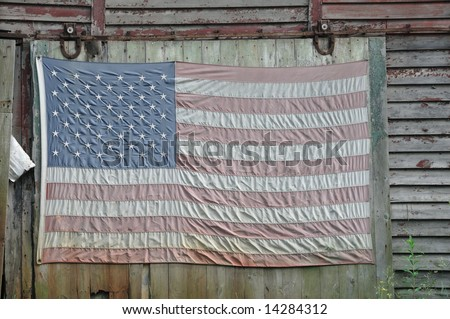 faded american flag background. of a faded American flag