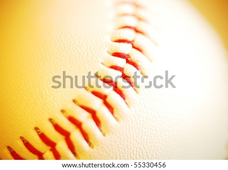 close detail of a new baseball pitchers grip
