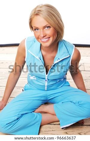 Close image of beautiful woman - stock photo