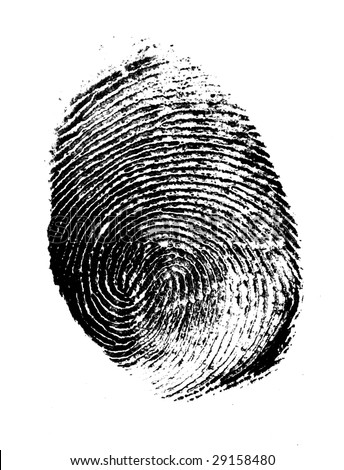Close of thumb print for background