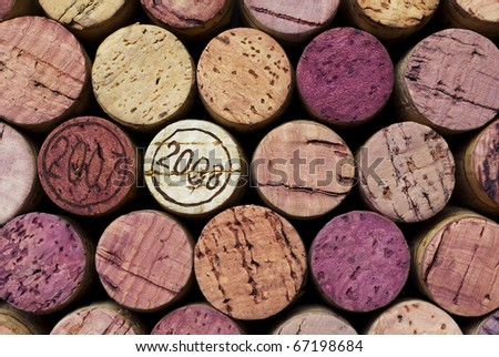 Close to some vine corks
