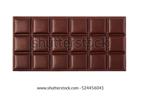 close up a chocolate bar isolated on white background #524456041