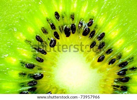 Close up abstract photo of a kiwi - stock photo