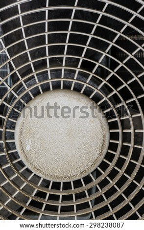 close up Air compressor\'s protection grid taken pattern background