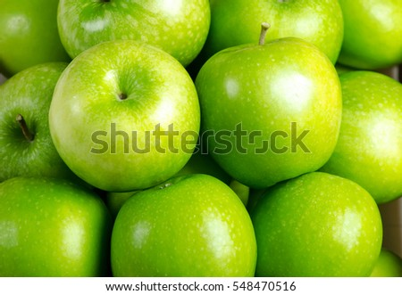Close-up apple background,Green apple fruit background.