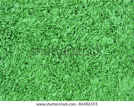 close up artificial turf on soccer football field