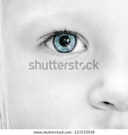 Close up baby eye