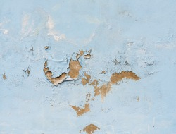close up background and texture of peeling paint on pastering wall because moisture of water